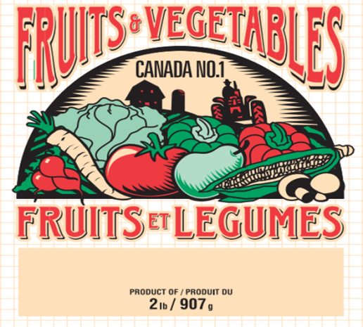 2 lb Fruit and Vegetable Bag