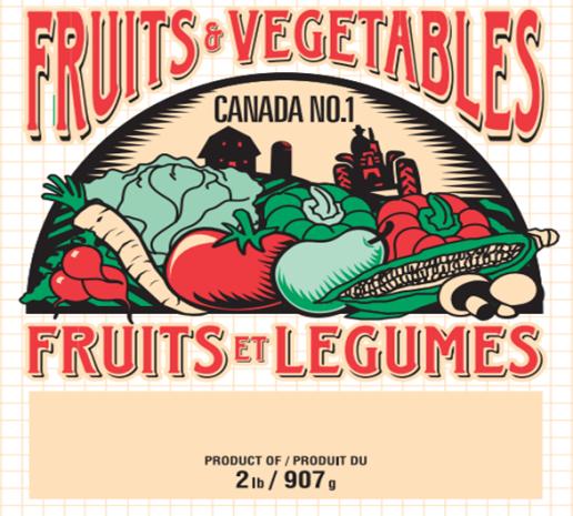2 lb Fruit and Vegetable Bag