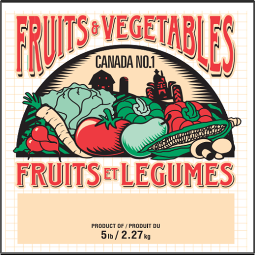 5 lb Fruit and Vegetable Bag